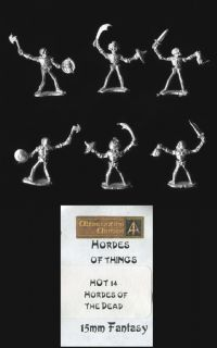 Alternative Armies 15mm Fantasy HOT14 Hordes of the Dead – Mixed Weapons (x 6)